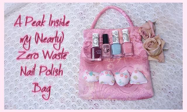 zero waste nail polish bag