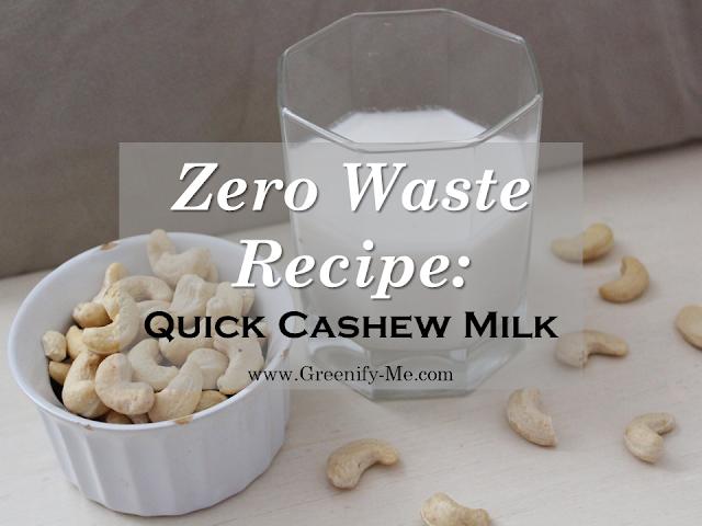 quick cashew milk