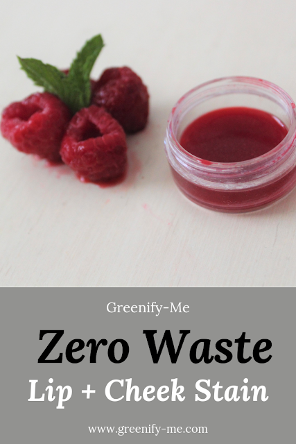 zero waste lip and cheek stain